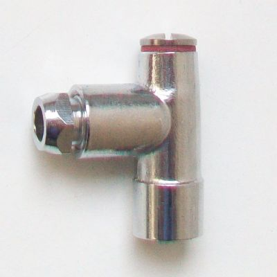 Chrome Gas Fire Restrictor Elbow 1/4 x 8mm - 07001030